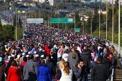 35to maratón de Estambul Eurasia Foto de archivo