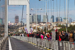 35to maratón de Estambul Eurasia Foto de archivo libre de regalías