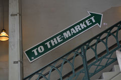 To the Market Sign Royalty Free Stock Photo