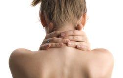 To massage shoulder stock images