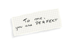 To me, you are perfect! Stock Photos