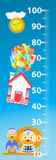 To measure growth. lion house. Children s illustration. is used to print, website, smartphone, design, textiles, ceramics fabrics prints postcards packaging Royalty Free Stock Images