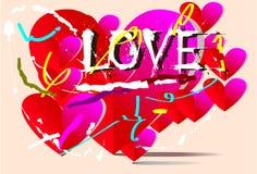 Tło miłości sztuka Fotografia Stock