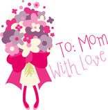To: Mom With Love Royalty Free Stock Photography