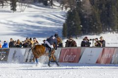 34to MUNDIAL del POLO de la NIEVE - St Moritz Imagen de archivo libre de regalías