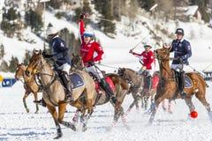 34to MUNDIAL del POLO de la NIEVE - St Moritz Imagen de archivo