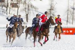34to MUNDIAL del POLO de la NIEVE - St Moritz Fotos de archivo