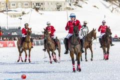 34to MUNDIAL del POLO de la NIEVE - St Moritz Foto de archivo libre de regalías