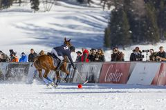 34to MUNDIAL del POLO de la NIEVE - St Moritz Fotografía de archivo libre de regalías