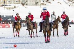 34to MUNDIAL del POLO de la NIEVE - St Moritz Fotos de archivo libres de regalías