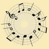 tło musical Fotografia Stock
