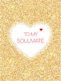 To my soulmate greeting card Stock Image