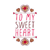To my sweetheart Stock Photos