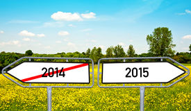 2014 to 2015 Stock Image
