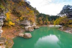 To no Hetsuri Fukushima Japan. To no Hetsuri Cliff river and canyon Fukushima Japan stock photo