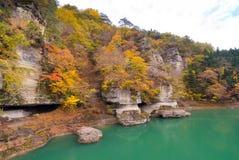 To no Hetsuri Fukushima Japan. To no Hetsuri Cliff river and canyon Fukushima Japan stock photography