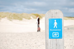 To the North. The way to the North beach, Skagen, Denmark Stock Photography