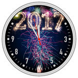 2017 5to12 odliczanie zegar Obraz Stock