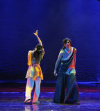To the past waved-The dance drama The legend of the Condor Heroes Royalty Free Stock Photo