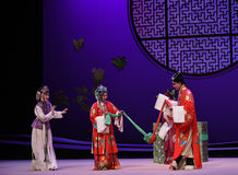 "To pay tribute to the matchmaker at the wedding-Kunqu Opera ""the West Chamber"" Royalty Free Stock Photography"