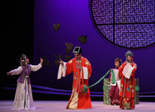 "To pay tribute to the matchmaker at the wedding-Kunqu Opera ""the West Chamber"" Stock Photo"