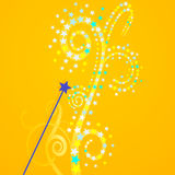 To perform magic wizardry. Sparkle stars royalty free illustration