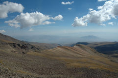 to the pick of Aragats. Royalty Free Stock Photography