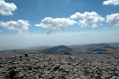 to the pick of Aragats. Stock Photo