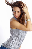 to piękny makijaż mody portret kobiety Zdjęcie Stock