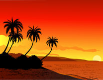 tło plaża Obrazy Royalty Free