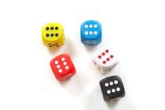 To play dice Stock Photo