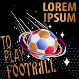 To Play football modern colorful background with ball. Vector illustration Stock Photos
