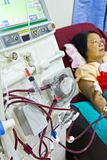 To purify the blood with artificial kidney. In the hospital Stock Images