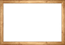 3to2 ratio bamboo wooden retro vintage  picture frame Royalty Free Stock Images