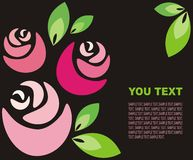 tło róże Obrazy Stock