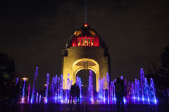 To the Revolution Monument. Night view of the Monument to the Revolution, in Mexico City stock photo