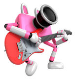 To the Right toward the Pink Camera Character playing the guitar Stock Images