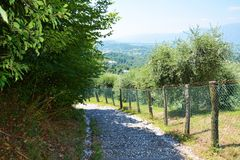 To Rocca castle in Asolo, Italy Royalty Free Stock Photo