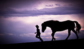 To Run with Horses Royalty Free Stock Photo