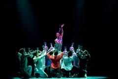 To sacrifice-Blue and white porcelainr-The national folk dance Stock Photo