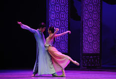 To see themselves in each other's eyes-The second act of dance drama-Shawan events of the past. Guangdong Shawan Town is the hometown of ballet music, the past Royalty Free Stock Photo
