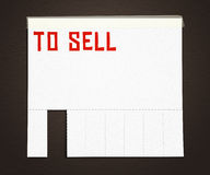 To Sell Advertisement Poster Background Royalty Free Stock Photos