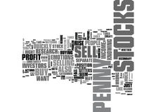 When To Sell Penny Stocks Word Cloud Royalty Free Stock Photography