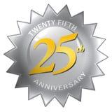 25to Sello del aniversario Fotografía de archivo libre de regalías