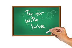 To Sir With Love Stock Image