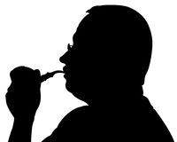 To smoke a pipe Stock Images