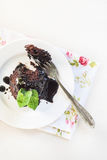 To split off from a piece of chocolate cake Royalty Free Stock Photography