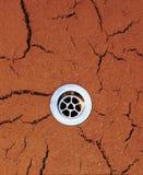 tło spływy sucha ziemia Zdjęcie Stock