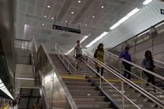 34to St - Hudson Yards Subway Station 31 Fotografía de archivo libre de regalías