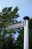 To The Station. Stock Photos
